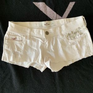 Hollister white jeans shorts pants Jean shorts